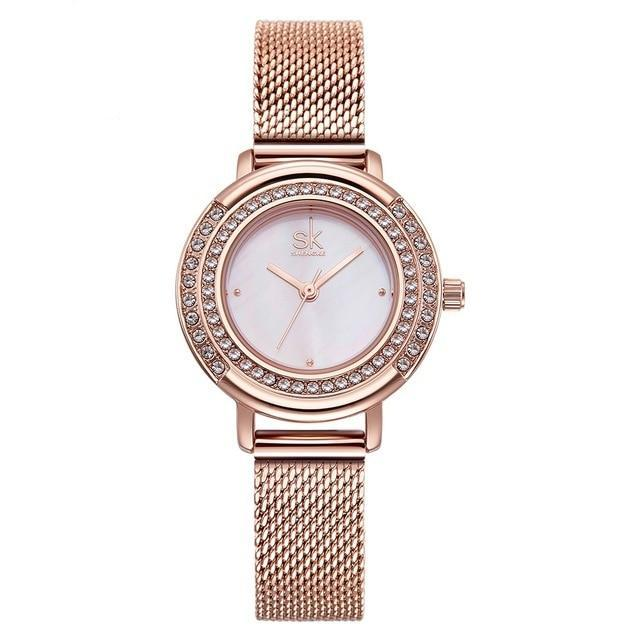 Ladies Crystal Dial Quartz Watch