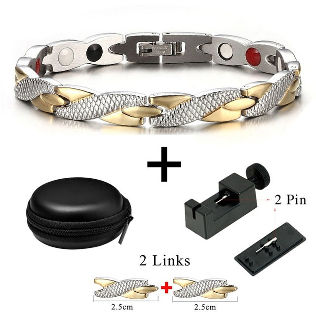 Magnetic Unisex Ion Germanium Health Bracelet/Power Balance Bracelet