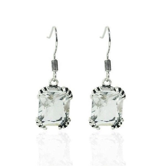 Austrian Crystal Stone Drop Earrings