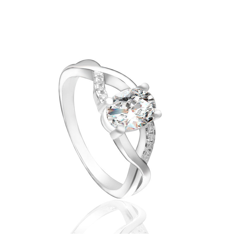 Cubic Zirconia Hollow Ring