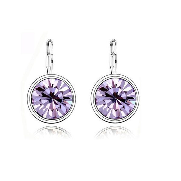Large Crystal Round Setting Earrings