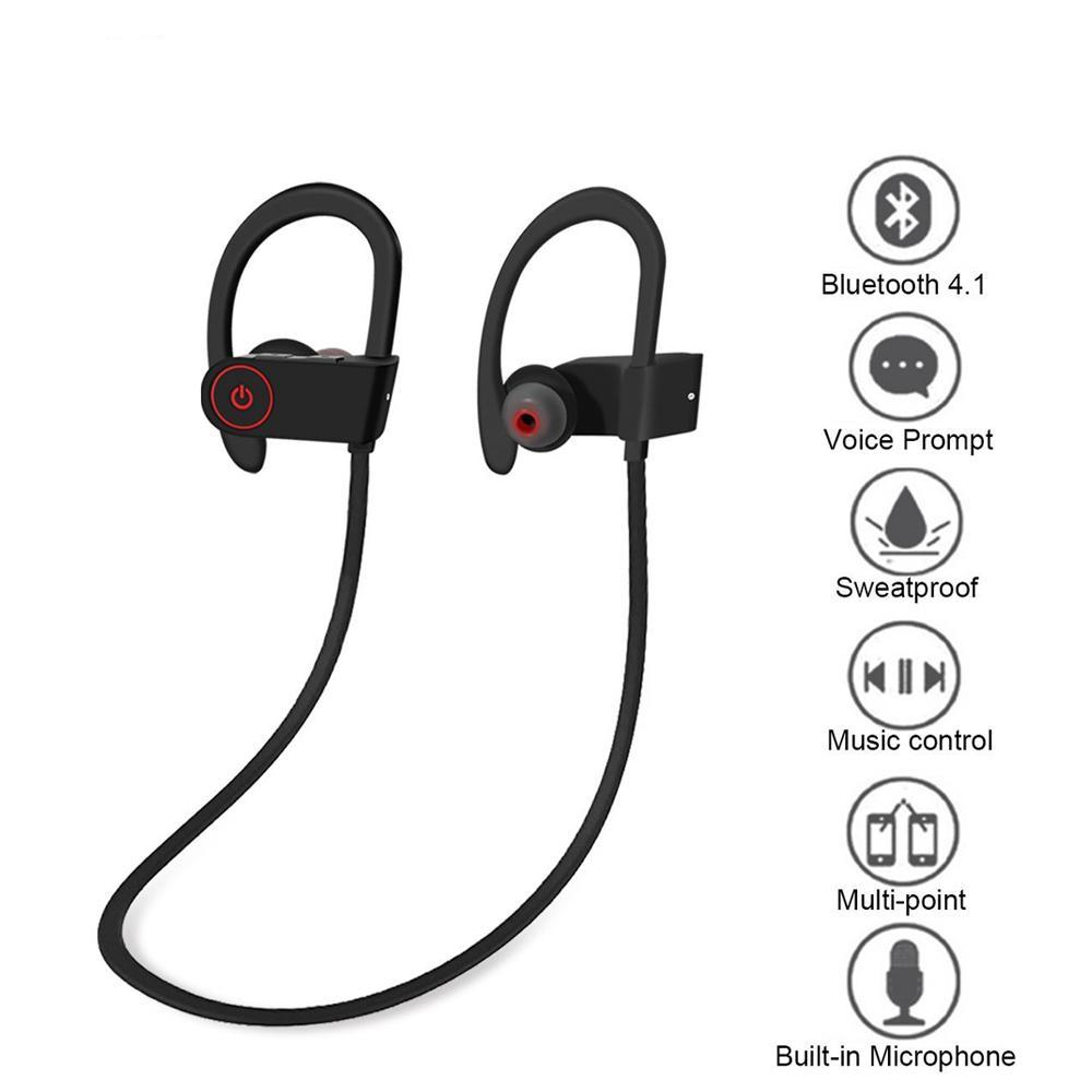 Sweat-proof Bluetooth Sport Headphones With Call Function