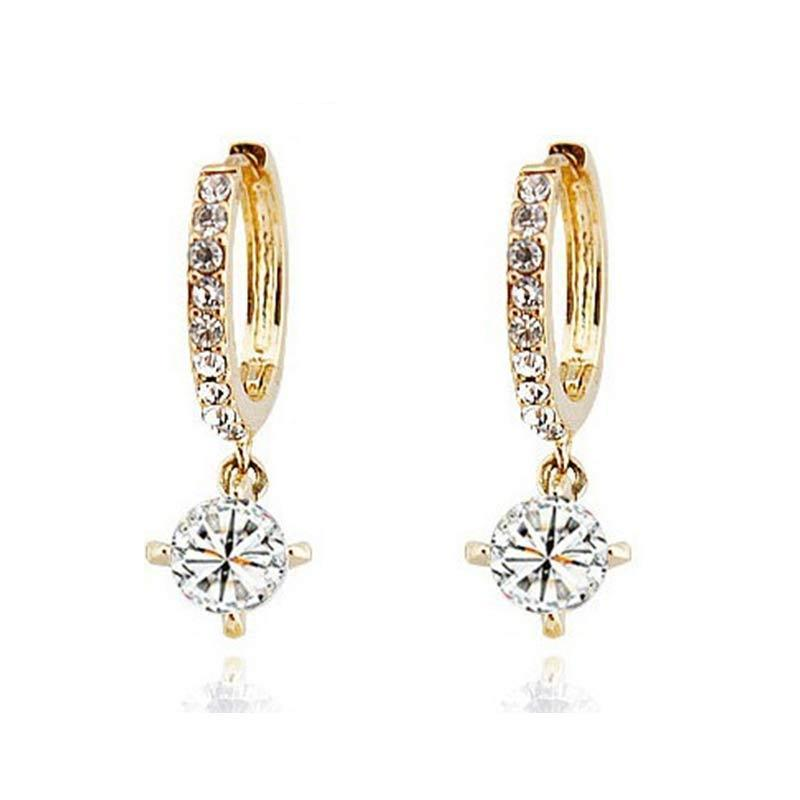 Austrian Crystal Adorned Drop Earrings