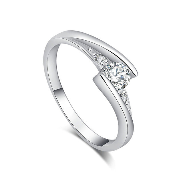 Exquisite Slim Cubic Zirconia Ring