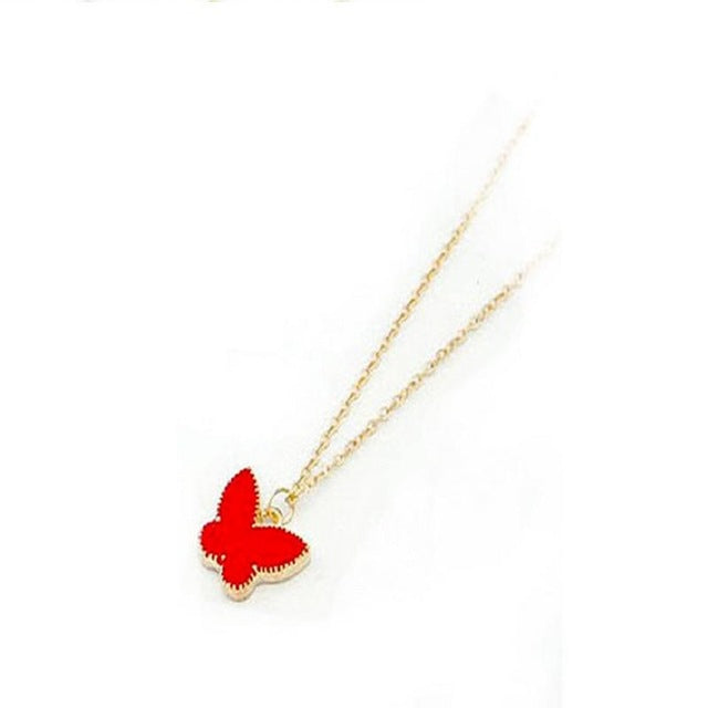 Heart / Butterfly Long Chain Necklace
