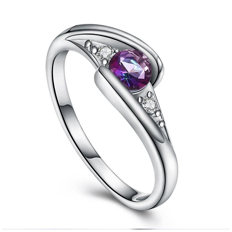 Swirling Cubic Zirconia Ring