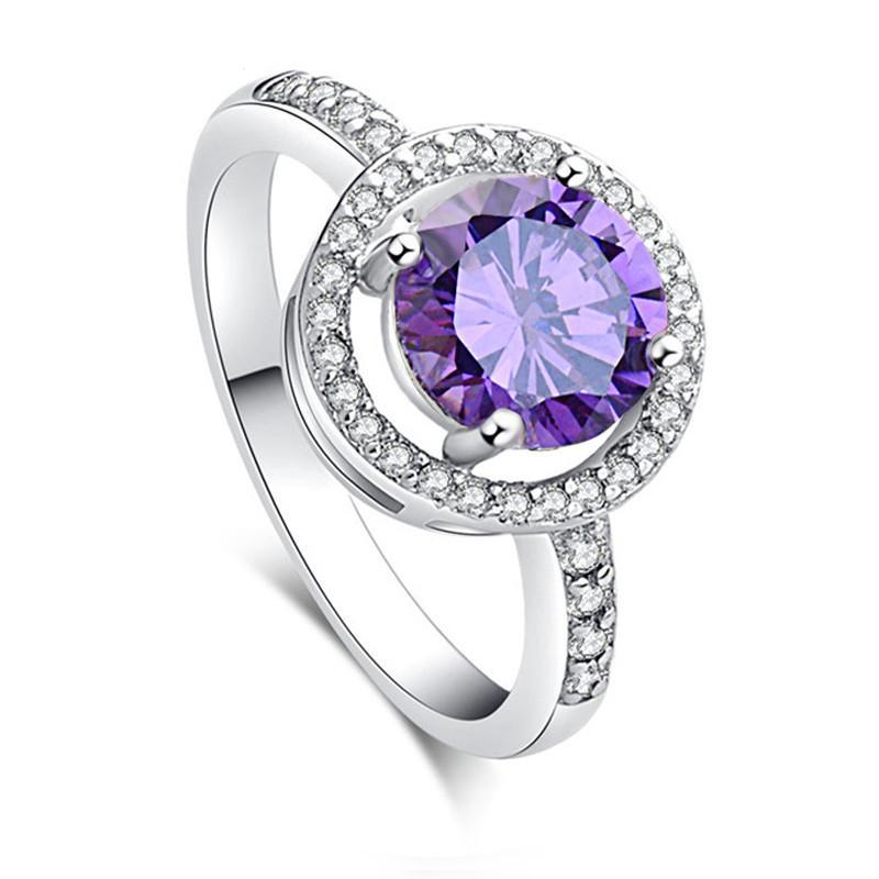 Vintage Purple Cubic Zirconia Rings