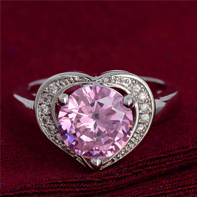 Classic Crystal Heart Ring