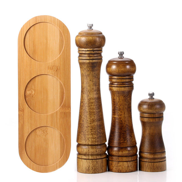 Wooden Salt & Pepper Grinder Set