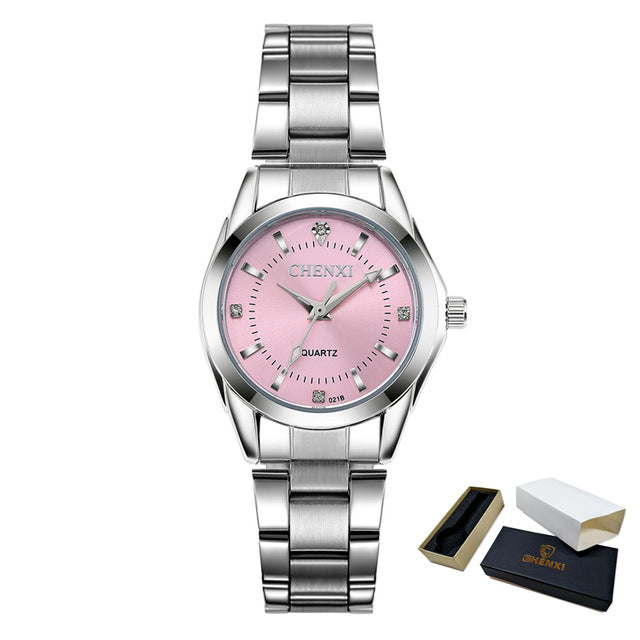 Rhinestone Point Ladies Quartz Watch
