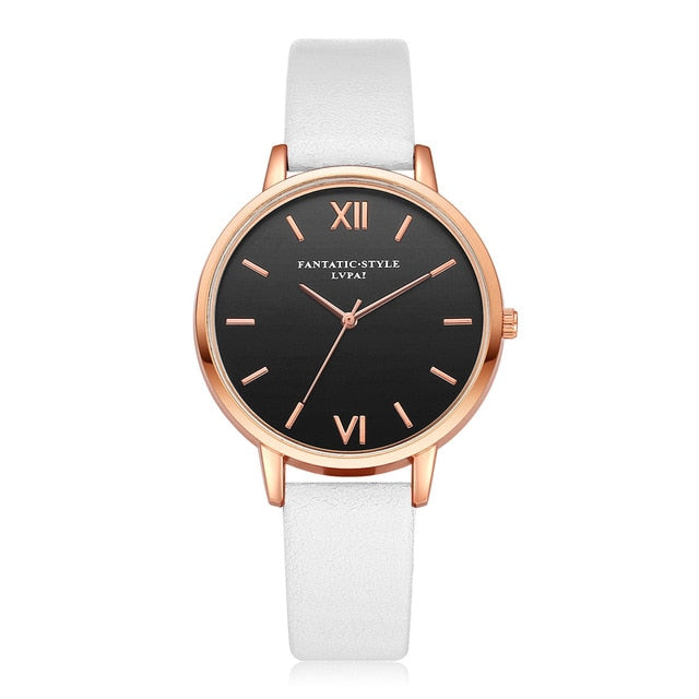 Ladies Leather Luxury Fashion Wristwatch
