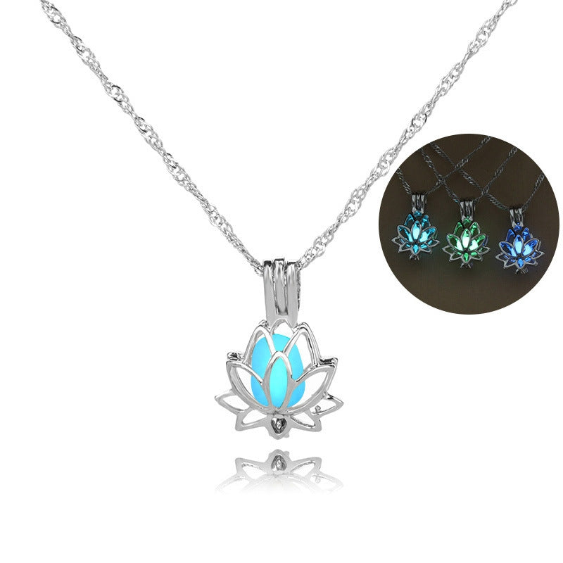 Glow In The Dark Lotus Pendant