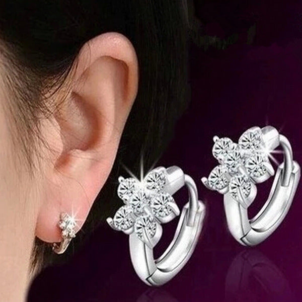Crystal Flora Earrings