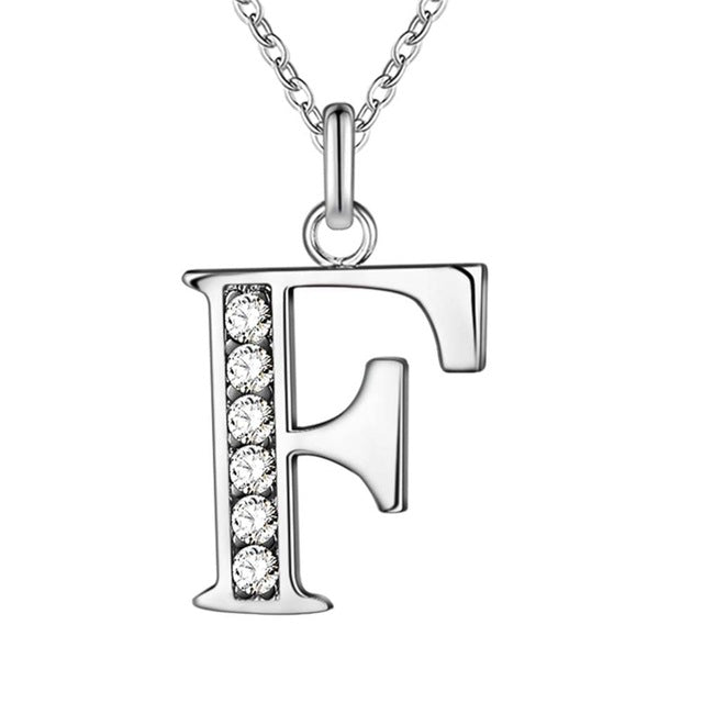 A-Z  Silver Plated Pendant