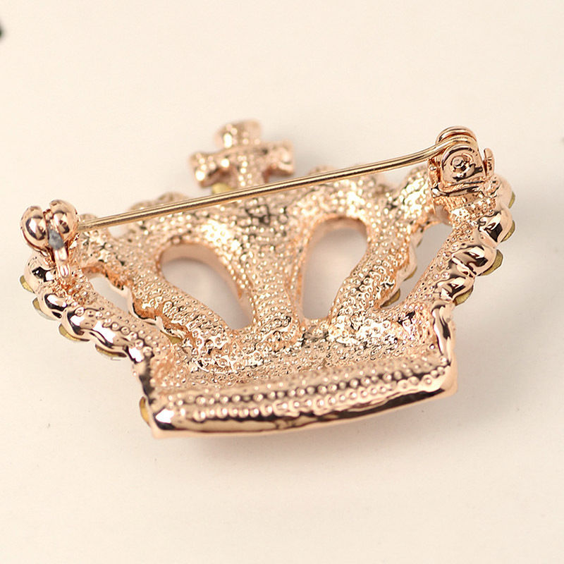 Crystal Crown Brooch Pin