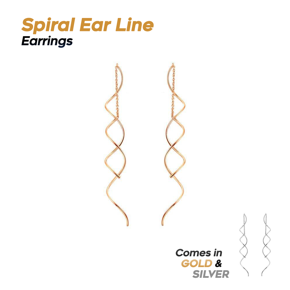 Spiral Ear Line Earrings