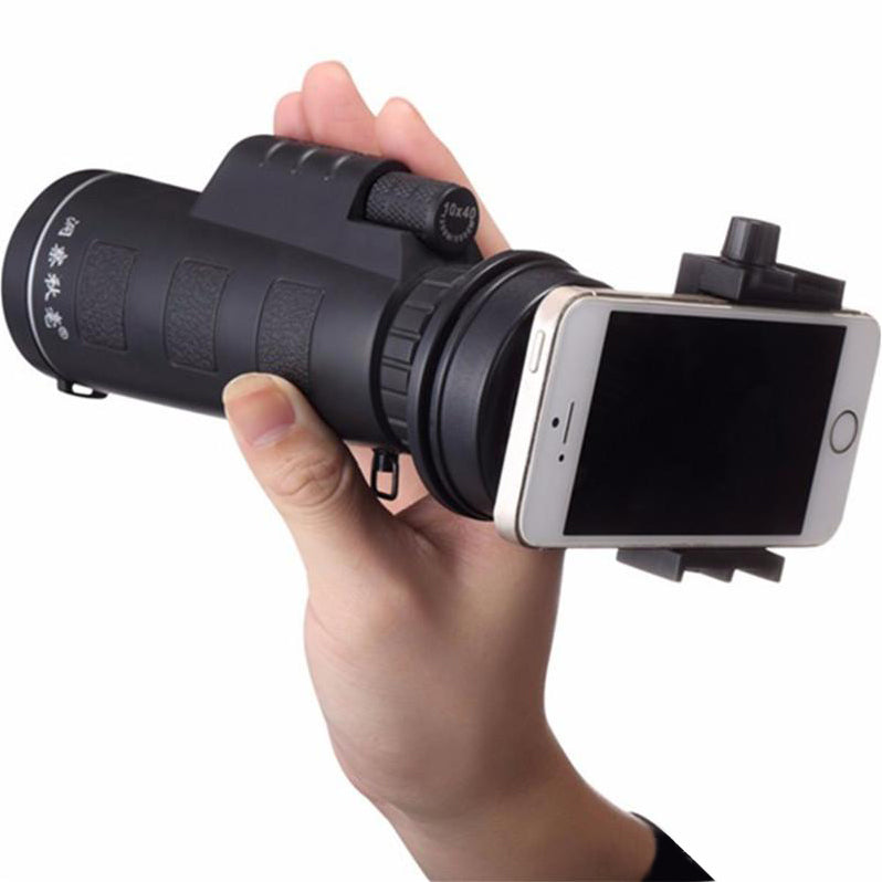 40X Monocular Night Vision Scope With Phone Clip & Tripod
