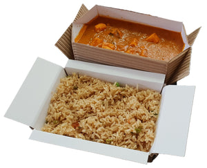 Non-Plastic Cardboard Food Takeaway Box