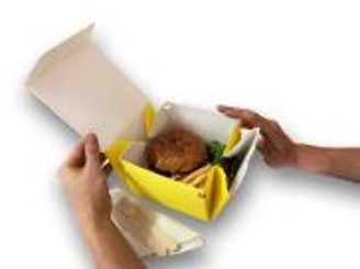 Non-Plastic Cardboard Burger & Pizza Box