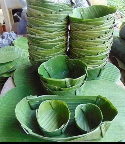 Banana Leaf Plate and Bowl