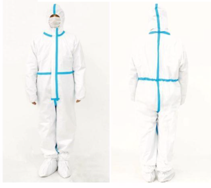 Full Body Protective Clothing with Shoe Cover