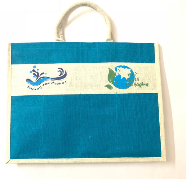 Jute Shopping Bag with Flexible Partition