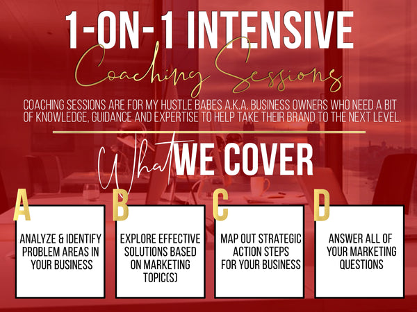 One on one intensive coaching session