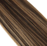 I Tip Hair Extensions Dark Brown Mixed with Caramel Blonde