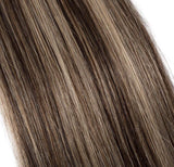 "18"" 20pcs 100g Virgin  Tape in Hair Extensions Human Hair 4P27 Balayage Straight Hair Seamless Skin Weft Invisible Double Sided Tape Two Tone Medium Brown Mix Dark Blonde"