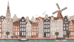 Amsterdam Ink Skyline Colour -  wall murals from Pattern and Picture