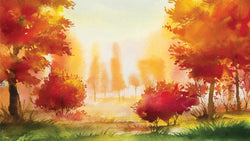 Autumn Golden Trees -  unique single-piece wallpaper from Pattern and Picture
