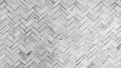 Bamboo Weave Black And White texture effect wallpaper from Pattern and Picture