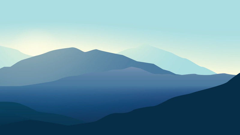 Blue Mountain View -  unique single-piece wallpaper from Pattern and Picture