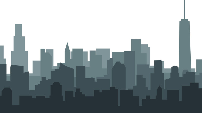 City Silhouette -  unique single-piece wallpaper from Pattern and Picture