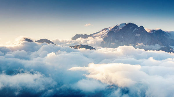 Climbing Above The Clouds -  unique single-piece wallpaper from Pattern and Picture