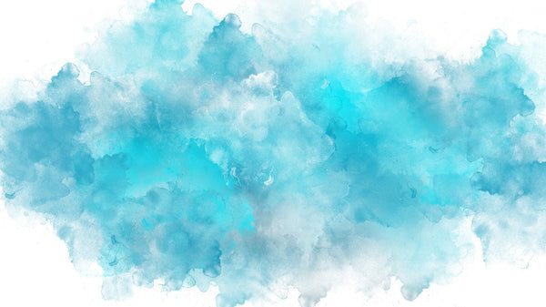 Cloudy Blue Watercolour - single-piece wallpaper from Pattern and Picture