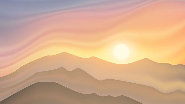 Contemporary Sunrise -  unique single-piece wallpaper from Pattern and Picture