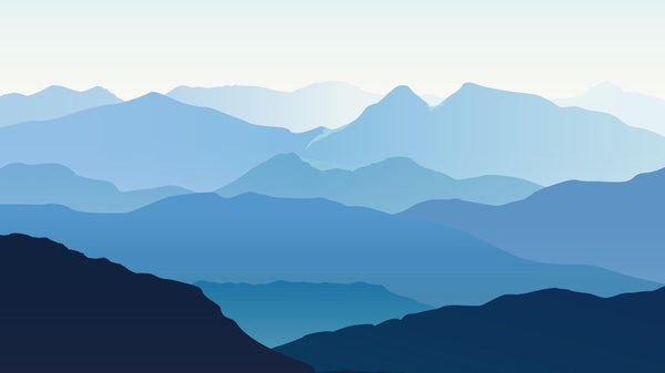 Cool Mountain Outline -  unique single-piece wallpaper from Pattern and Picture