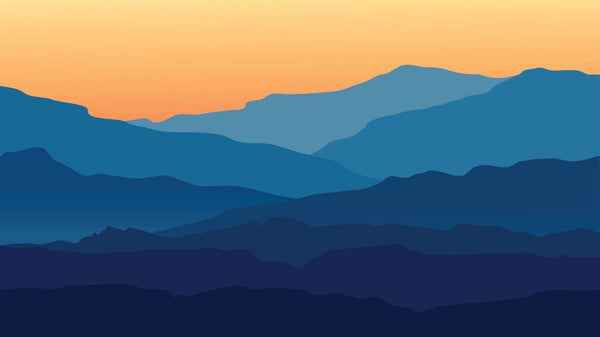 Glowing Sunset Range -  unique single-piece wallpaper from Pattern and Picture