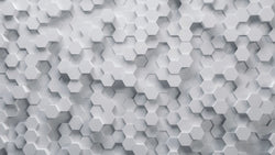 Hex Pop -  unique single-piece wallpaper from Pattern and Picture
