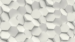 Hex Wall -  unique single-piece wallpaper from Pattern and Picture