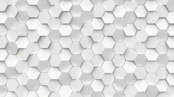 Hexagon Turn -  unique single-piece wallpaper from Pattern and Picture