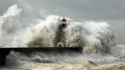Lighthouse Storm -  unique single-piece wallpaper from Pattern and Picture