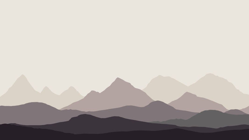 Low Mountain Range -  unique single-piece wallpaper from Pattern and Picture