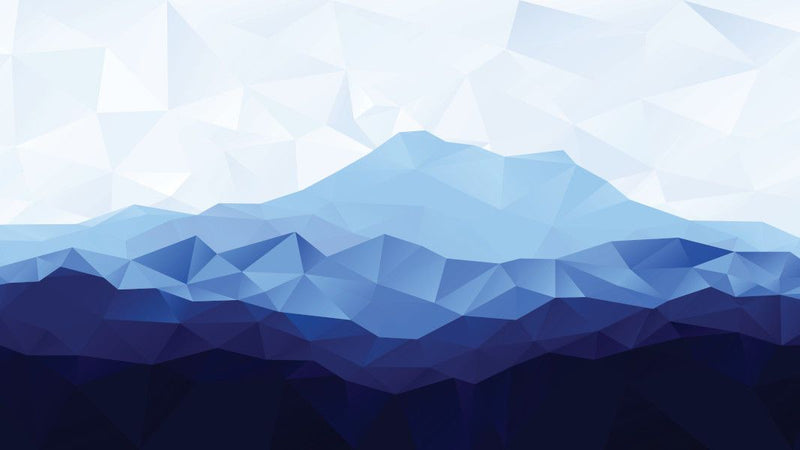 Low Poly Blue Mountains -  unique single-piece wallpaper from Pattern and Picture
