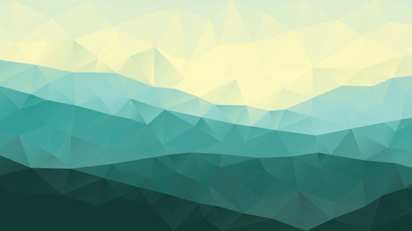 Low Poly Green Mountains -  unique single-piece wallpaper from Pattern and Picture