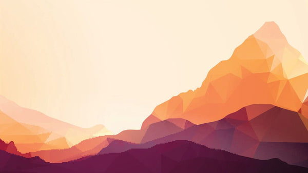 Low Poly Peak -  unique single-piece wallpaper from Pattern and Picture
