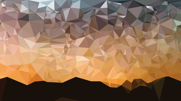Low Poly Sunset -  unique single-piece wallpaper from Pattern and Picture