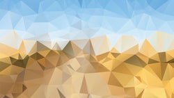 Low Poly Yellow Mountains -  unique single-piece wallpaper from Pattern and Picture