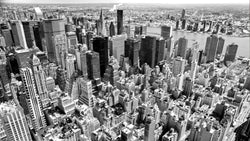 Manhattan, Black and White -  unique single-piece wallpaper from Pattern and Picture